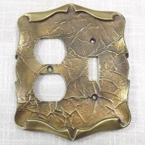 Vintage Amerock Dual Outlet/Light Switch Cover